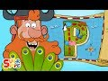 Captain Seasalt And The ABC Pirates Discover A Delicious Prize On P Island Cartoon For Kids