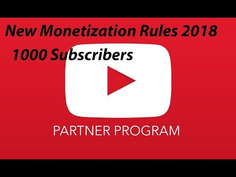 [Hindi-हिन्दी] Youtube New Monetization Rules 2018 II 4000 Hours watch time and 1000 Subscribers