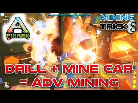 PIXARK #8 ADVANCE MINING TRICKS - DRILL SECRETS - TRAIN TRACK BUILDING - WHY BEDROCK MINING!!!