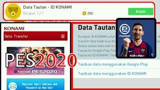 Cara Menautkan Data Menggunakan ID KONAMI PES 2020 Mobile