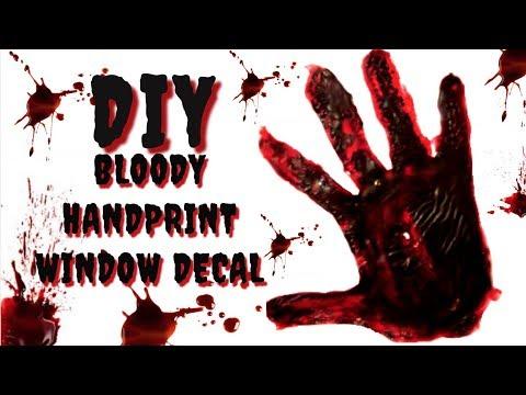 Bloody handprint cling | DIY window cling | DIY window decal