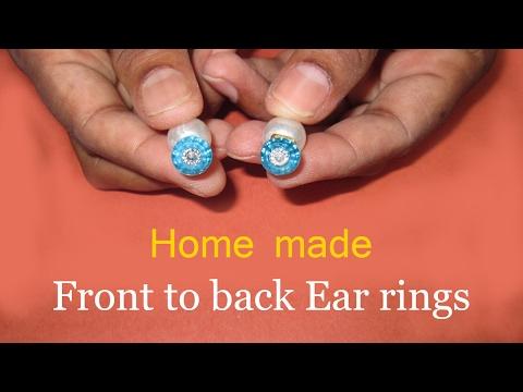 Simple Pearl Earrings Making On Ear ||  earring jacket || Making Back Stud Earring