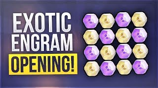 Destiny 2 - Huge Exotic Engram Opening - Legendary And Exotic Opening