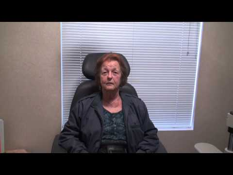 Patient can see after cataract surgery!