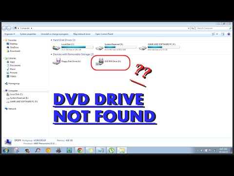 How to fix Dvd drive not found windows