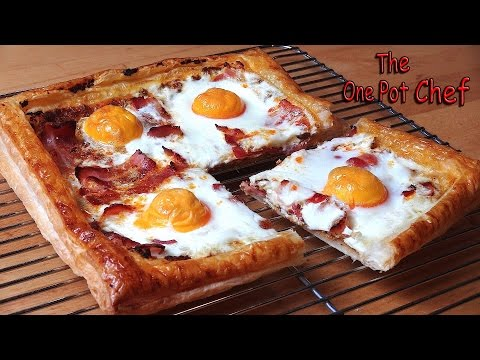 Bacon and Egg Breakfast Tart | One Pot Chef