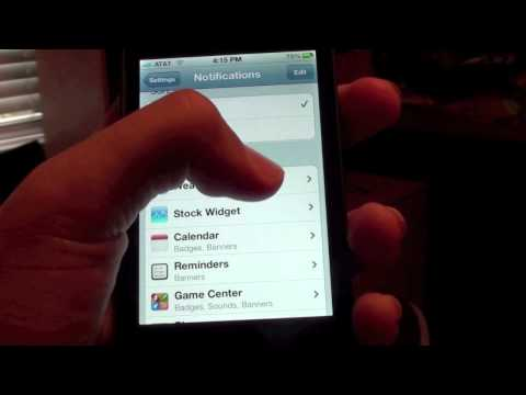 How to Turn Off Stocks in Notifications Center iOS 5