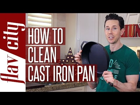 The Easiest Cast Iron Skillet Cleaning - Season Your Cast Iron Skillet