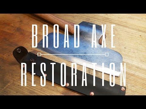 Keesteel Broad Axe Restoration, Hafting & Sheath