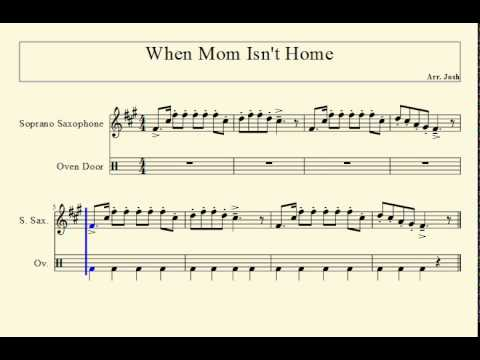 When Mom Isn't Home for Bb Instruments (Trumpet, Clarinet