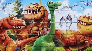 THE GOOD DINOSAUR Puzzle Disney Jigsaw Rompecabezas Spot Arlo Kids Toys Videos Play Puzzles 2016