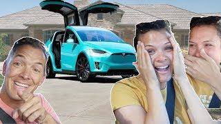 Download I SURPRISED my wife with a TESLA! bought a TESLA for $50! Video