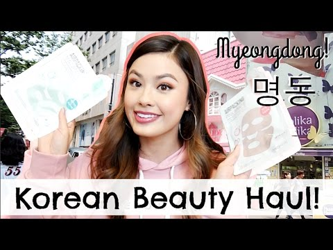 MY KOREAN BEAUTY HAUL from Myeongdong (명동) Seoul, South Korea