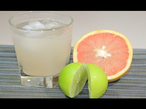 How To Make FRESH Grape Fruit & Lime Juice