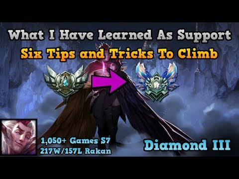 GAIN ELO AS SUPPORT - Tips and Tricks To Climb Ranked As Support For Season 8