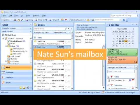 Outlook 2007 Demo: Stay on track with Outlook tasks