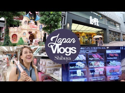 Shibuya: Disney Store, Genki Sushi & Shopping! Japan Summer 2017