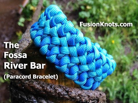 How to Make a Fossa River Bar, Paracord Bracelet by TIAT