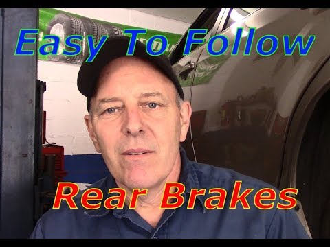 How to replace rear brakes and rotors 2008 Toyota Camry