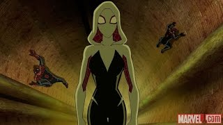 Ultimate Spiderman S4E19 - Milles Morales, Spider Gwen and Spiderman vs Evil Peter Parker