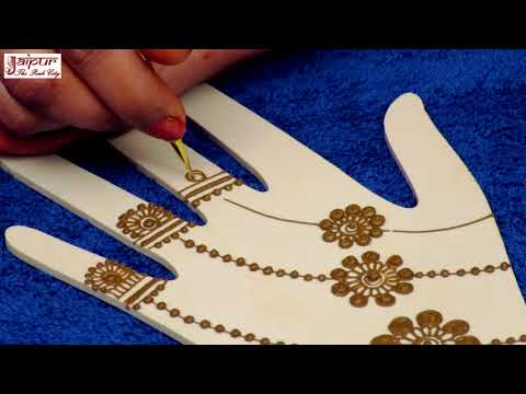 Easy Jewelry Mehndi Design for Hands for Beginners | New Mehndi Design by Sonia Goyal #285