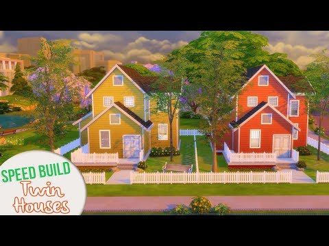 TWIN HOUSES | The Sims 4 Speed Build