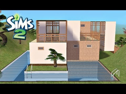 ♢ Modern & Simple Vacation Home ♢ The Sims 2 ♢