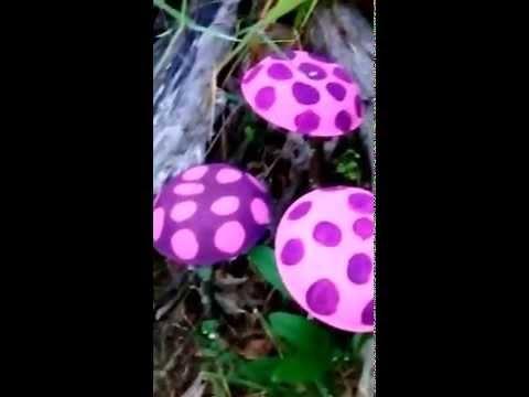 DIY: How to make little Garden Mushrooms