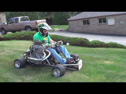 EPIC! 500cc Homemade Shifter Kart Death Trap