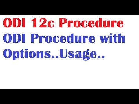 ODI 12c Tutorials Lession10 ODI 12c Procedure with Options example