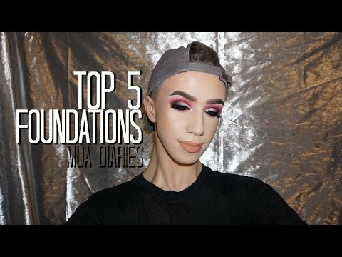 TOP 5 FOUNDATIONS | The MUA Diaries | Mitchell MUA
