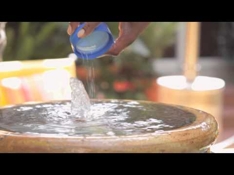 How to Keep Garden Fountain Water Clean : Landscaping Tips
