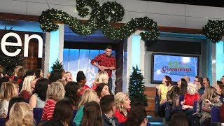 Ellen Surprises the Audience with Channing Tatum During 12 Days!