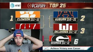 Reacting to the College Football Playoff Rankings (11/28)