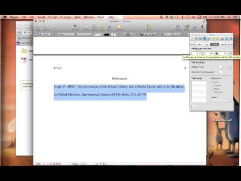 How to Create a Hanging Indent in Pages