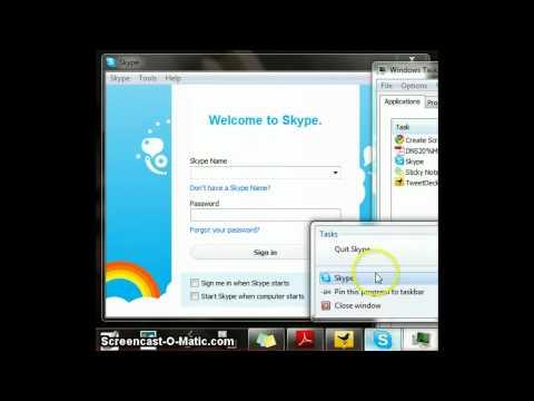 Skype Won't Quit