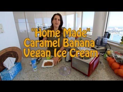 Banana Caramel Ice Cream in the Cuisinart