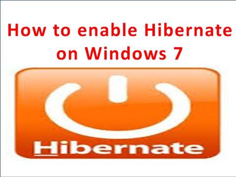 How To Enable Hibernate - Windows 7
