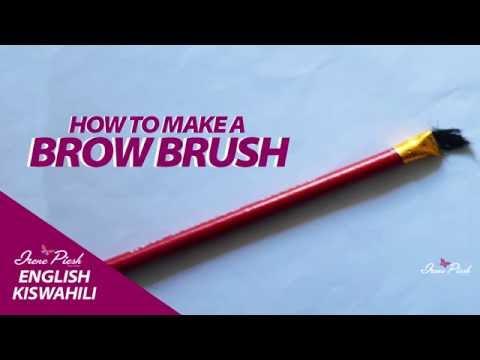 DIY: Makeup Brush! How to Make a Makeup Brush/Brow Brush