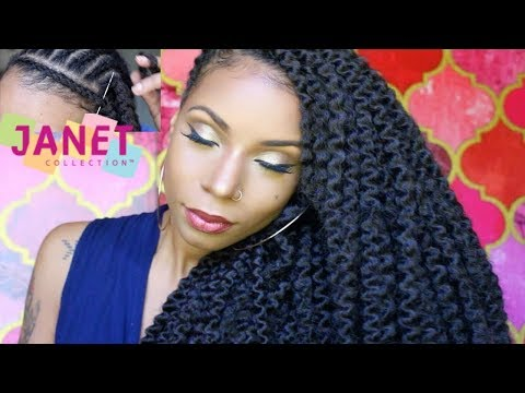 Afro Montego Twists Braid| How to Crochet, Nighttime routine, final results