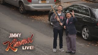 Jimmy Kimmel & Guillermo Break Matthew Broderick