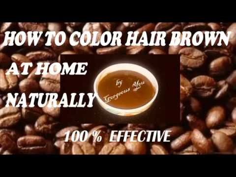 How to colour hair brown at home naturally/Homemade herbal brown hair dye/Gorgeous You