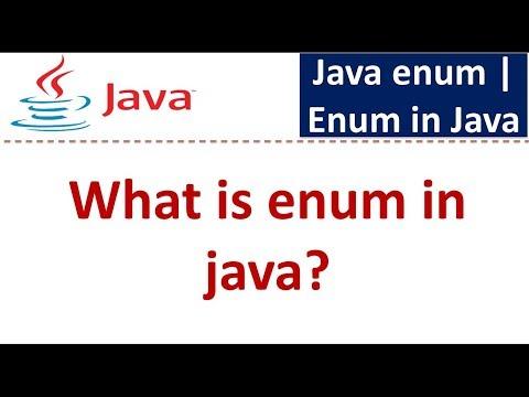 Java Tutorial: Enum in java | Java enum