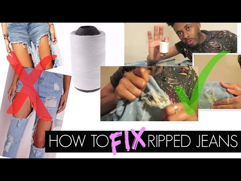 How to fix ripped distressed jeans | Curtis Don Deano