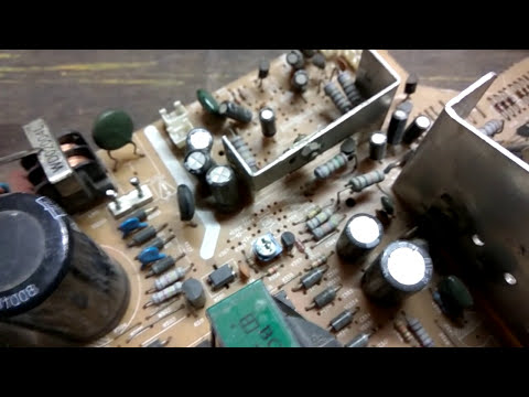 crt tv power supply repair techniques