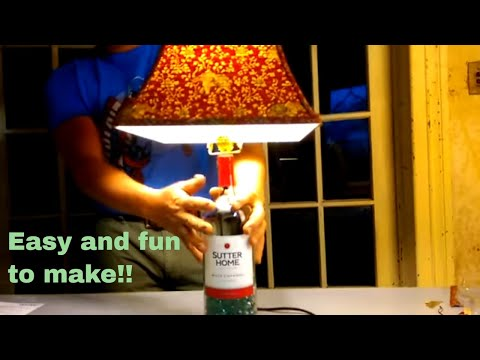 How to make a lamp with a wine bottle