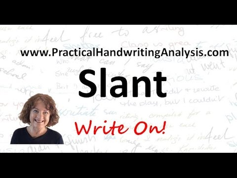 Personality from  Handwriting Signature - Slant of Writing (Graphology)