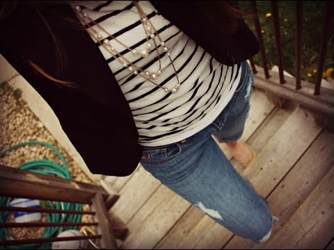 Ripped jeans outfits ideas with blazers