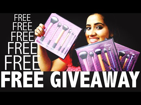 FIRST GIVEAWAY!! (CLOSED) Real Technique Makeup Brushes Set   Happy Pink Studio