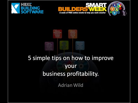 Smart Working - 5 simple tips on improving your business profitability - Project Toolkit